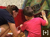 Children, both with their parents, and with school groups, are given art appreciation through ArtPrize each year