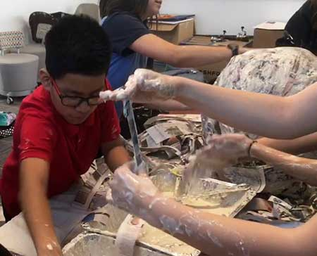 Students create World Hunger exhibit